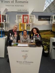 Standul cramei Liliac la London Wine Fair 2015